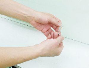 鍼治療で感染しないように衛生的である。